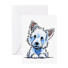 Westie Wesley Greeting Cards