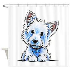 Westie Wesley Shower Curtain