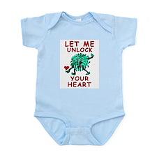 Let Me Unlock Your Heart Infant Creeper