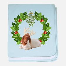 Baby Boer Goat Christmas baby blanket