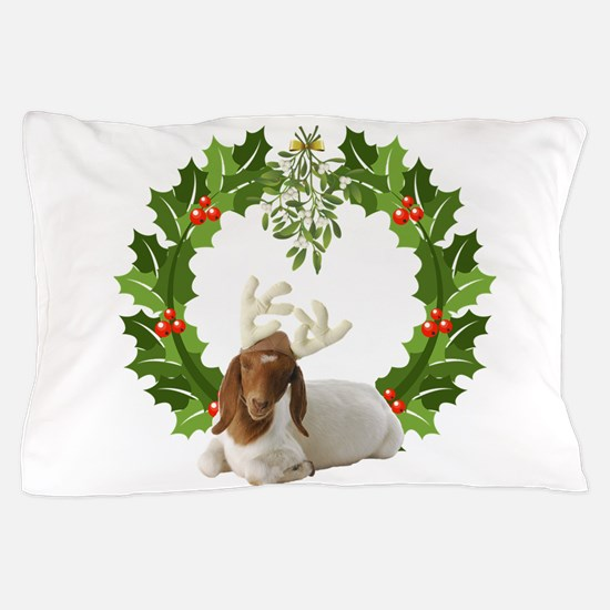Baby Boer Goat Christmas Pillow Case