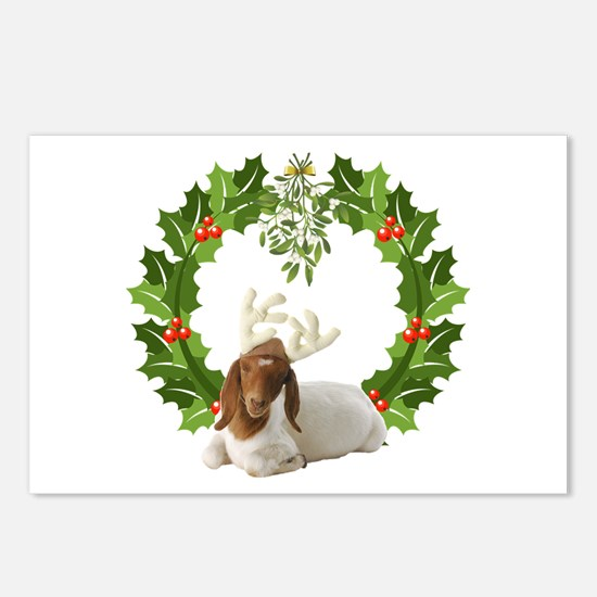 Baby Boer Goat Christmas Postcards (Package of 8)