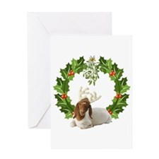 Baby Boer Goat Christmas Greeting Card