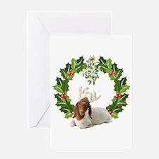 Baby Boer Goat Christmas Greeting Card