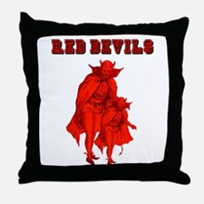 Red Devils Throw Pillow