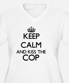 Keep calm and kiss the Cop Plus Size T-Shirt