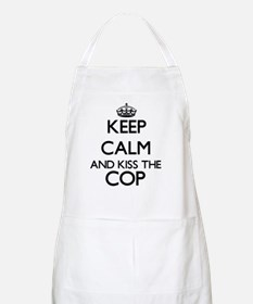 Keep calm and kiss the Cop Apron