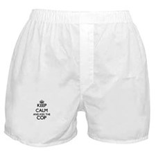 Keep calm and kiss the Cop Boxer Shorts