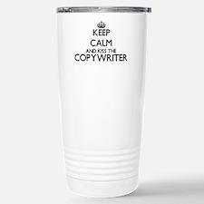 Keep calm and kiss the Stainless Steel Travel Mug