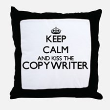 Keep calm and kiss the Copywriter Throw Pillow