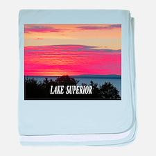 Sunrise Lake Superior baby blanket