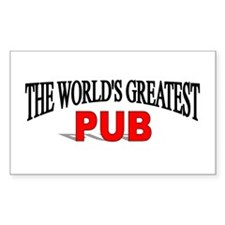 """""""The World's Greatest Pub"""" Rectangle Decal"""