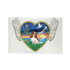 Winged Heart/Cavalier Rectangle Magnet