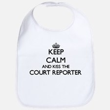 Keep calm and kiss the Court Reporter Bib