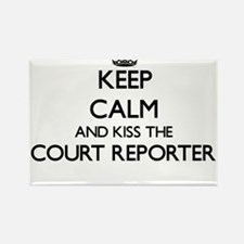 Keep calm and kiss the Court Reporter Magnets