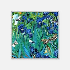 Van Gogh Garden Irises Sticker
