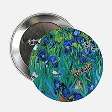 "Van Gogh Garden Irises 2.25"" Button"
