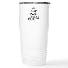 Keep calm and kiss the Travel Mug