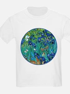 Van Gogh Garden Irises T-Shirt