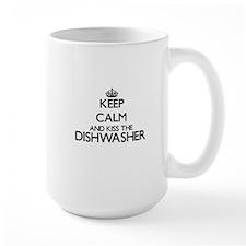 Keep calm and kiss the Dishwasher Mugs
