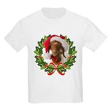 Baby Boer Goat in Santa Hat T-Shirt
