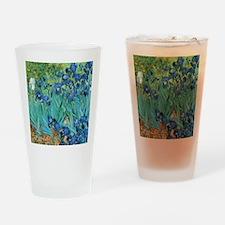 Van Gogh Garden Irises Drinking Glass
