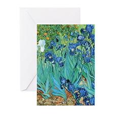 Van Gogh Garden Irises Greeting Cards
