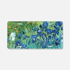 Van Gogh Garden Irises Aluminum License Plate