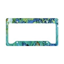 Van Gogh Garden Irises License Plate Holder