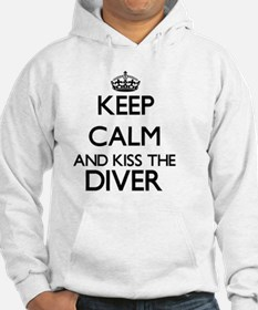 Keep calm and kiss the Diver Hoodie