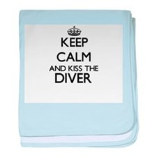 Keep calm and kiss the Diver baby blanket