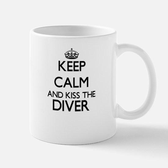 Keep calm and kiss the Diver Mugs