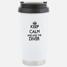 Keep calm and kiss the Travel Mug