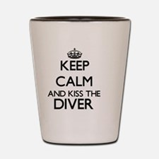 Keep calm and kiss the Diver Shot Glass