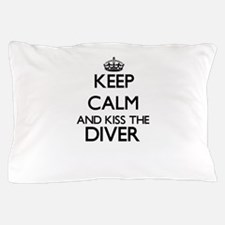 Keep calm and kiss the Diver Pillow Case