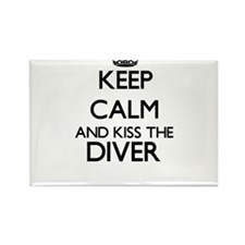 Keep calm and kiss the Diver Magnets