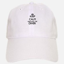 Keep calm and kiss the Diver Baseball Baseball Cap