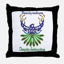Beauty and Strength Throw Pillow