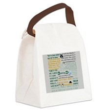 Walter White Quotes Canvas Lunch Bag