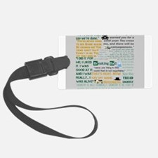 Walter White Quotes Luggage Tag
