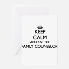 Keep calm and kiss the Family Couns Greeting Cards