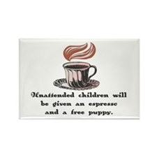 Free Espresso for Children Rectangle Magnet (100 p