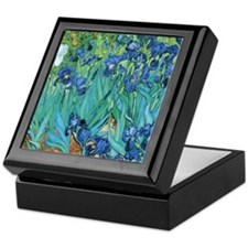 Van Gogh Garden Irises Keepsake Box