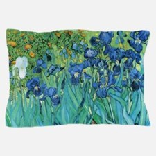Van Gogh Garden Irises Pillow Case