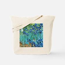 Van Gogh Garden Irises Tote Bag