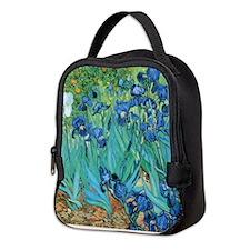 Van Gogh Garden Irises Neoprene Lunch Bag