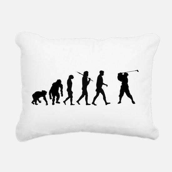 Golf Evolution Rectangular Canvas Pillow