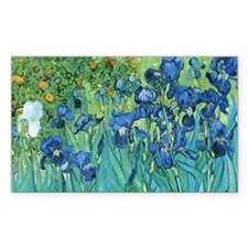 Van Gogh Garden Irises Decal