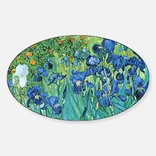 Van Gogh Garden Irises Decal