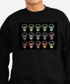 Colorful lightbulbs pattern illu Sweatshirt